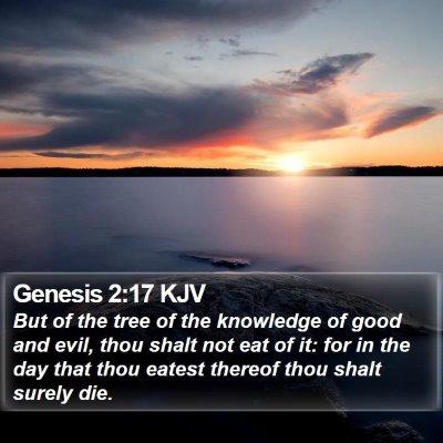 Genesis 2:17 KJV Bible Verse Image