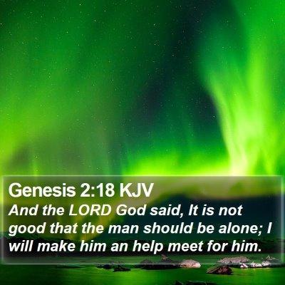 Genesis 2:18 KJV Bible Verse Image