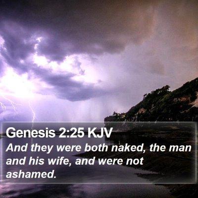 Genesis 2:25 KJV Bible Verse Image