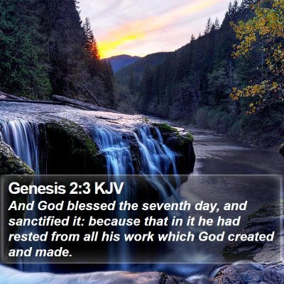 Genesis 2:3 KJV Bible Verse Image