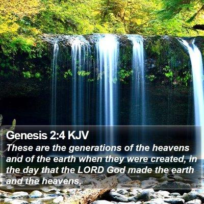 Genesis 2:4 KJV Bible Verse Image
