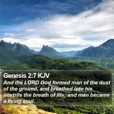 Genesis 2:7 KJV Bible Verse Image