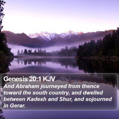 Genesis 20:1 KJV Bible Verse Image