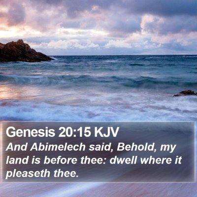 Genesis 20:15 KJV Bible Verse Image