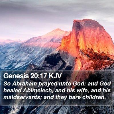 Genesis 20:17 KJV Bible Verse Image