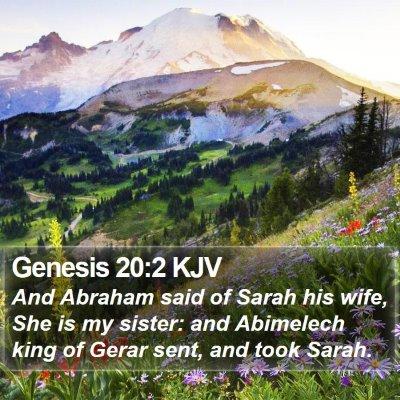 Genesis 20:2 KJV Bible Verse Image