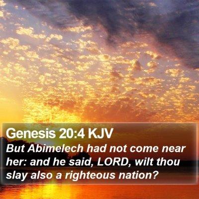 Genesis 20:4 KJV Bible Verse Image