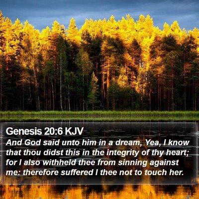 Genesis 20:6 KJV Bible Verse Image