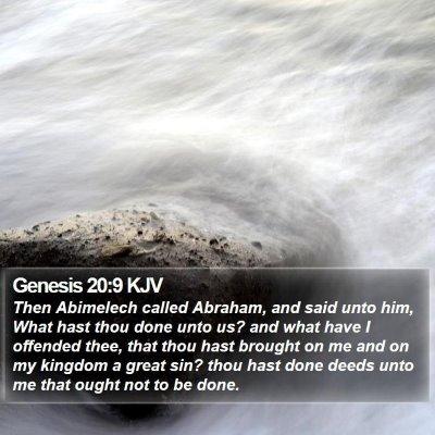 Genesis 20:9 KJV Bible Verse Image