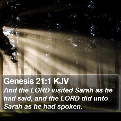 Genesis 21:1 KJV Bible Verse Image