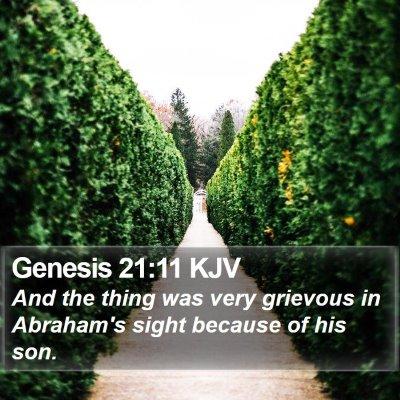 Genesis 21:11 KJV Bible Verse Image