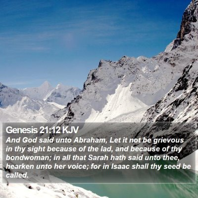 Genesis 21:12 KJV Bible Verse Image