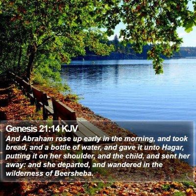Genesis 21:14 KJV Bible Verse Image