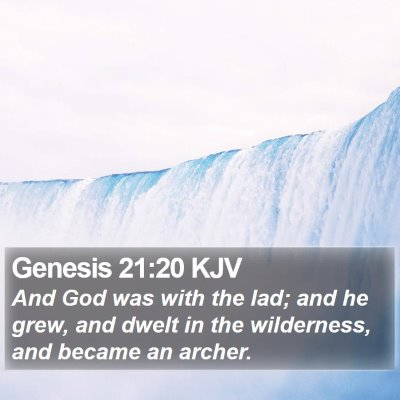 Genesis 21:20 KJV Bible Verse Image