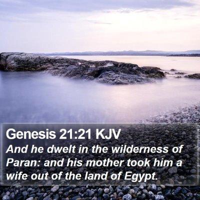 Genesis 21:21 KJV Bible Verse Image