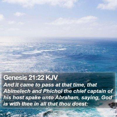 Genesis 21:22 KJV Bible Verse Image