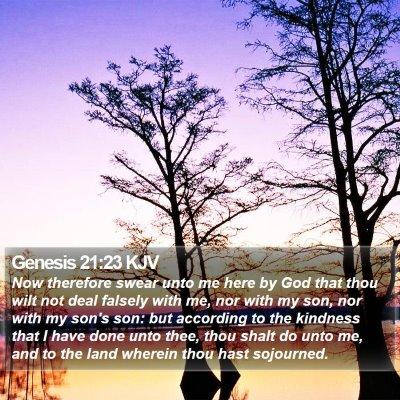 Genesis 21:23 KJV Bible Verse Image