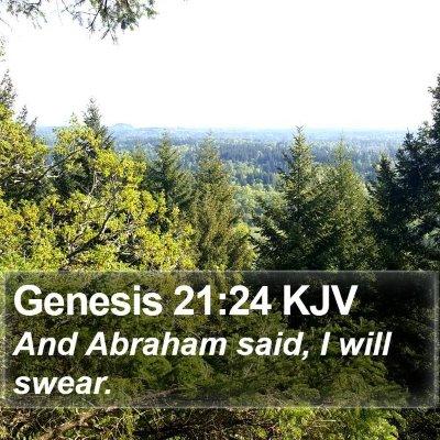 Genesis 21:24 KJV Bible Verse Image