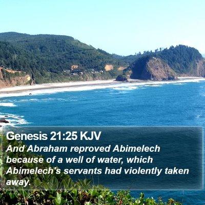 Genesis 21:25 KJV Bible Verse Image