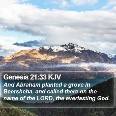 Genesis 21:33 KJV Bible Verse Image