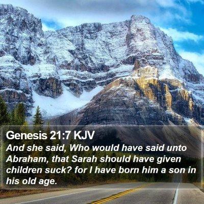 Genesis 21:7 KJV Bible Verse Image