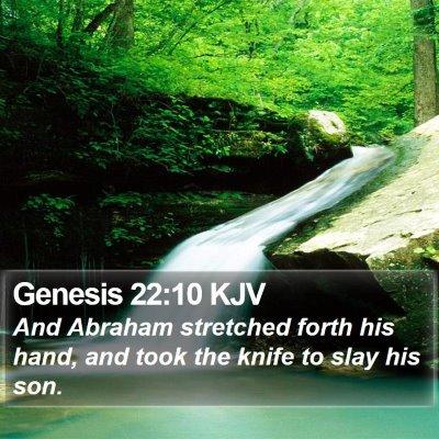 Genesis 22:10 KJV Bible Verse Image