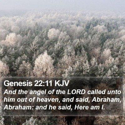 Genesis 22:11 KJV Bible Verse Image