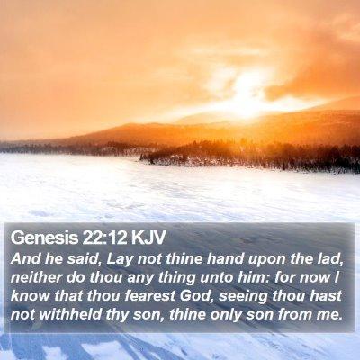 Genesis 22:12 KJV Bible Verse Image