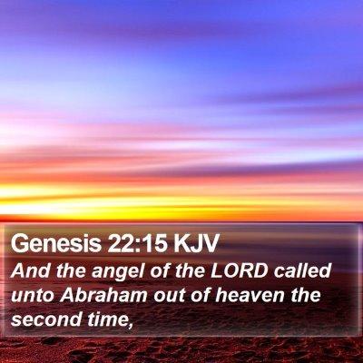 Genesis 22:15 KJV Bible Verse Image