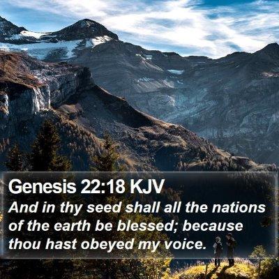 Genesis 22:18 KJV Bible Verse Image