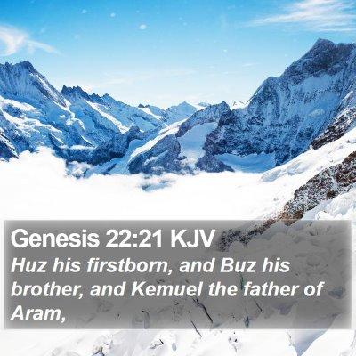Genesis 22:21 KJV Bible Verse Image