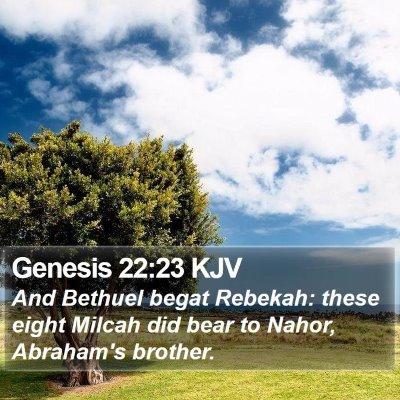 Genesis 22:23 KJV Bible Verse Image