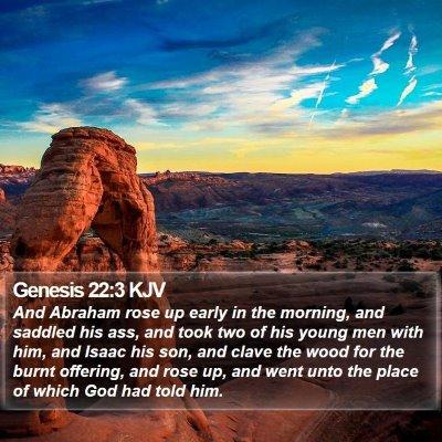 Genesis 22:3 KJV Bible Verse Image