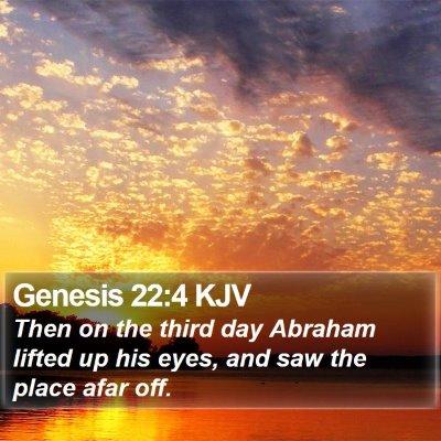 Genesis 22:4 KJV Bible Verse Image