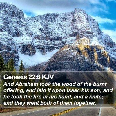 Genesis 22:6 KJV Bible Verse Image