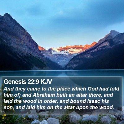 Genesis 22:9 KJV Bible Verse Image