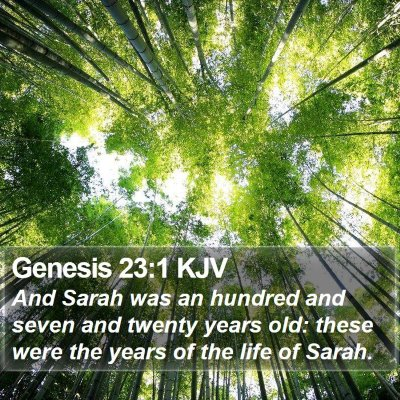 Genesis 23:1 KJV Bible Verse Image