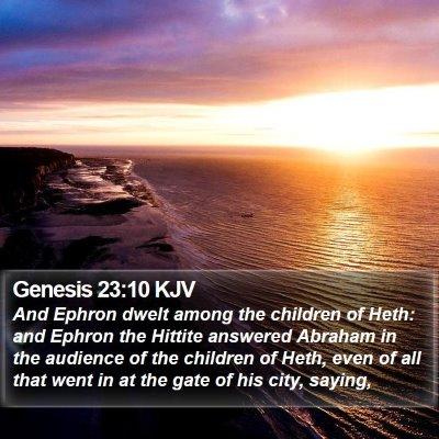 Genesis 23:10 KJV Bible Verse Image