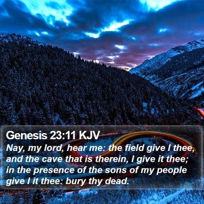 Genesis 23:11 KJV Bible Verse Image