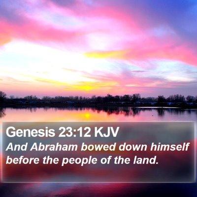 Genesis 23:12 KJV Bible Verse Image