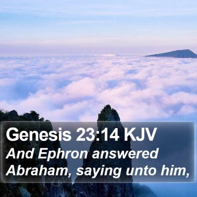 Genesis 23:14 KJV Bible Verse Image