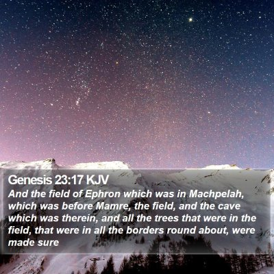 Genesis 23:17 KJV Bible Verse Image