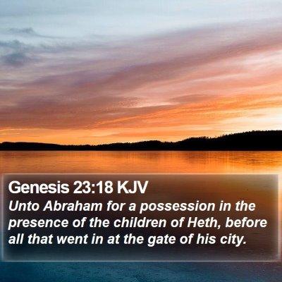 Genesis 23:18 KJV Bible Verse Image