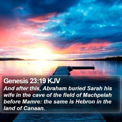 Genesis 23:19 KJV Bible Verse Image