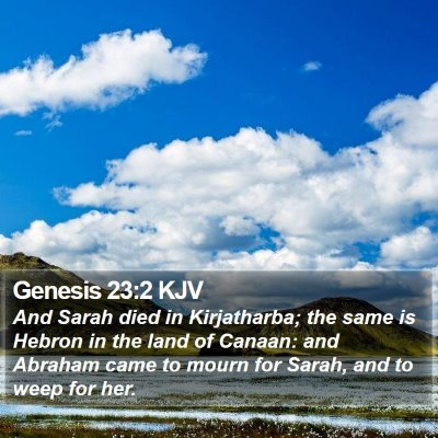 Genesis 23:2 KJV Bible Verse Image