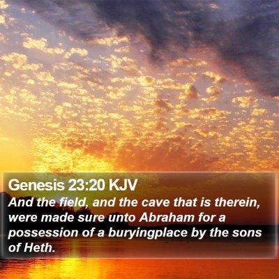 Genesis 23:20 KJV Bible Verse Image