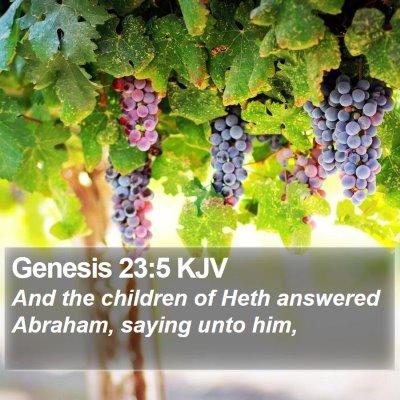 Genesis 23:5 KJV Bible Verse Image