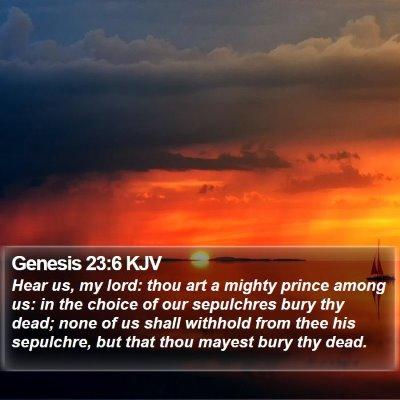 Genesis 23:6 KJV Bible Verse Image
