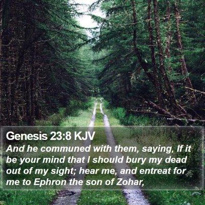 Genesis 23:8 KJV Bible Verse Image