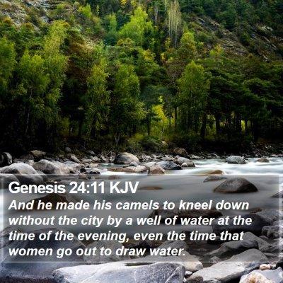 Genesis 24:11 KJV Bible Verse Image
